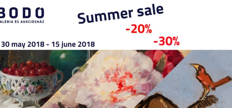 Summer sale at Bodó Gallery