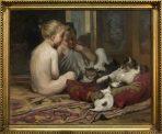 Gergely Imre: Kislányok cicával