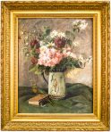 Charles Monginot: Virágcsendélet lovaskorsóban