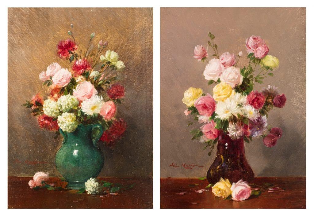 H. Merton: Virágcsendélet, párban