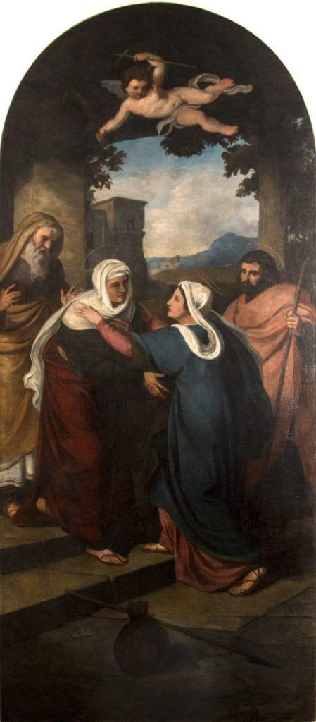 Than Mór: Mária és Erzsébet találkozása (Vizitáció), 1864