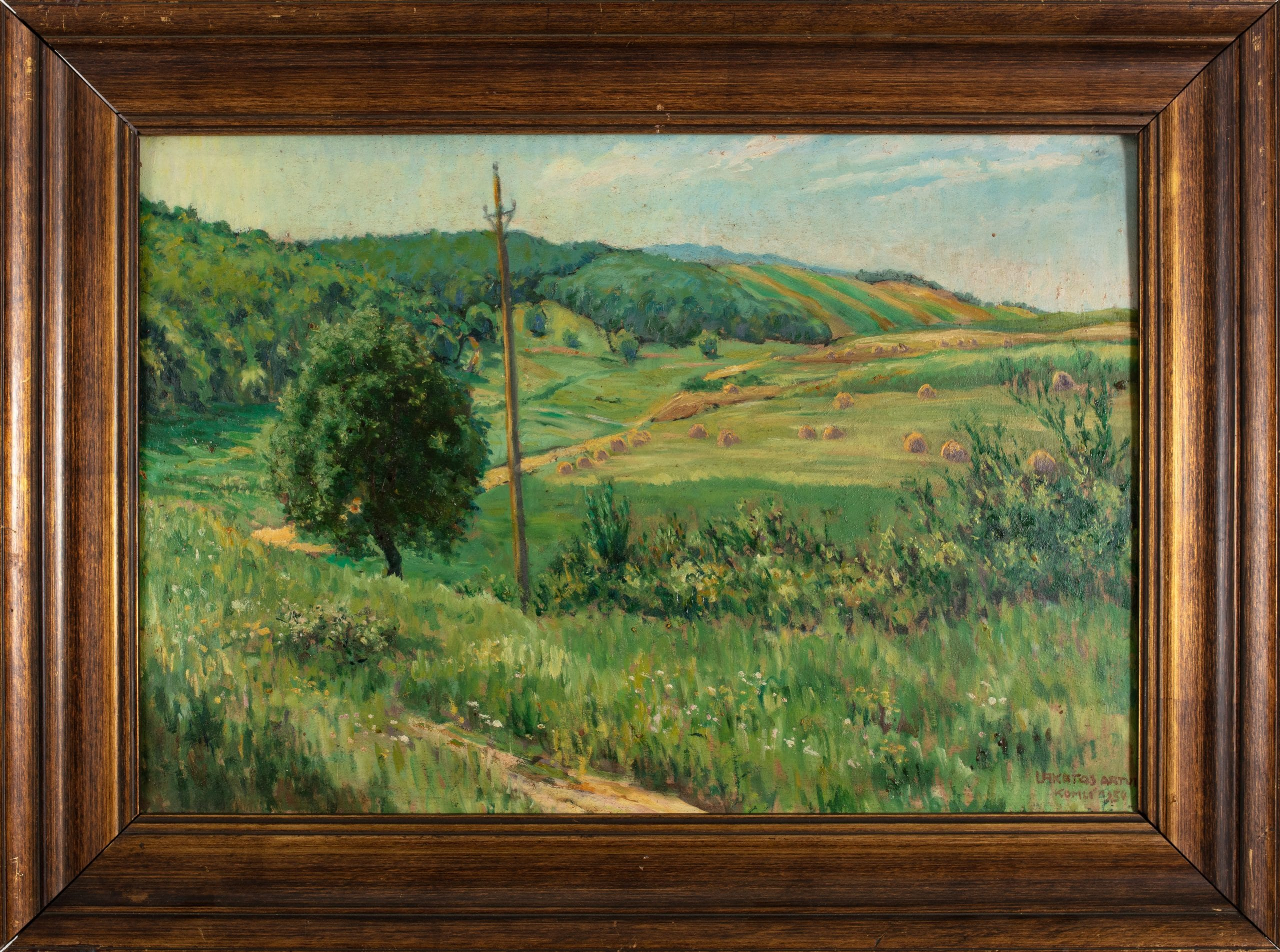 Lakatos Artúr: Komlói földek, 1934