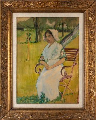 Gremsperger Ernő: Hölgy székben, 1913