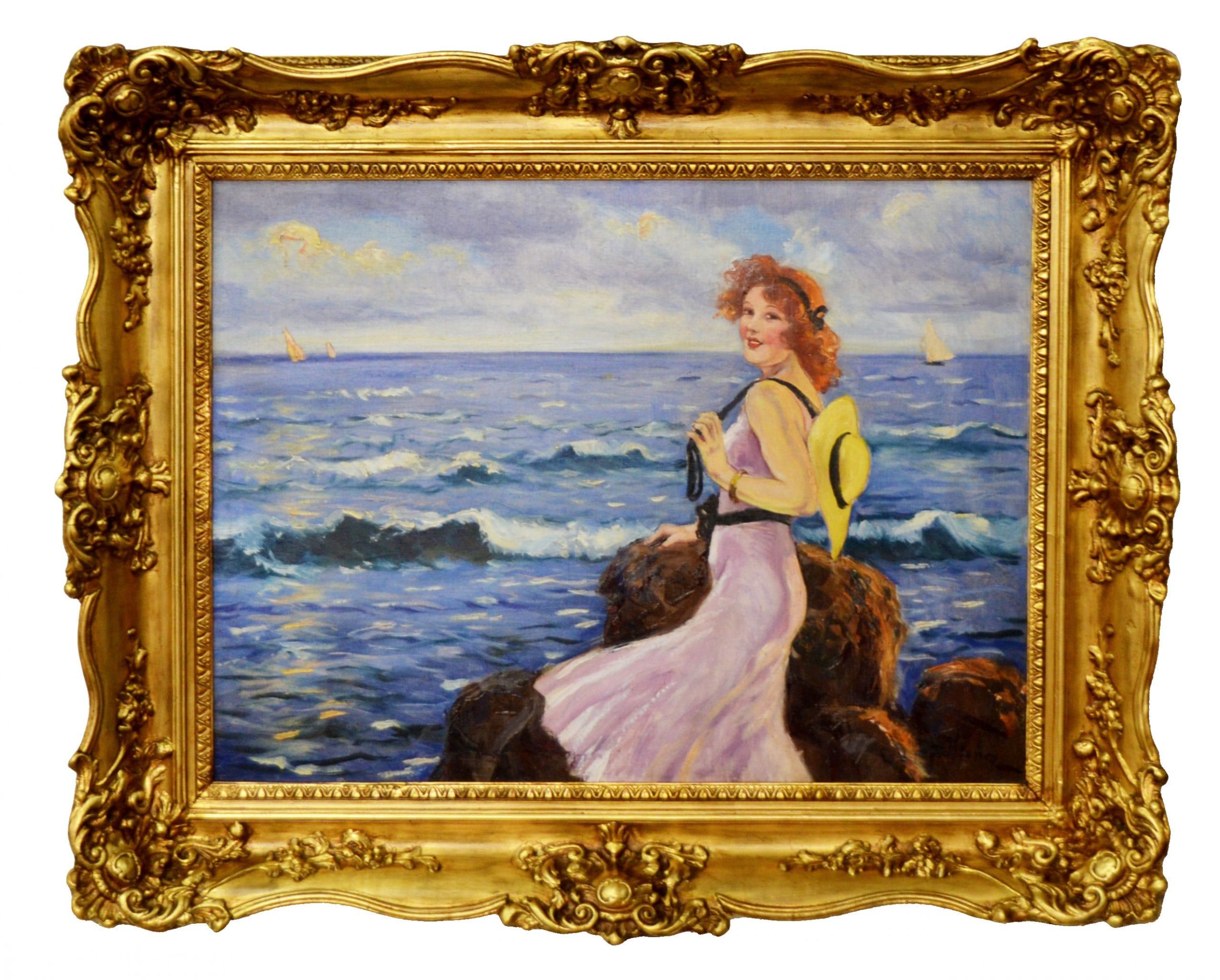 Illencz Lipót: Lány a tengerparton