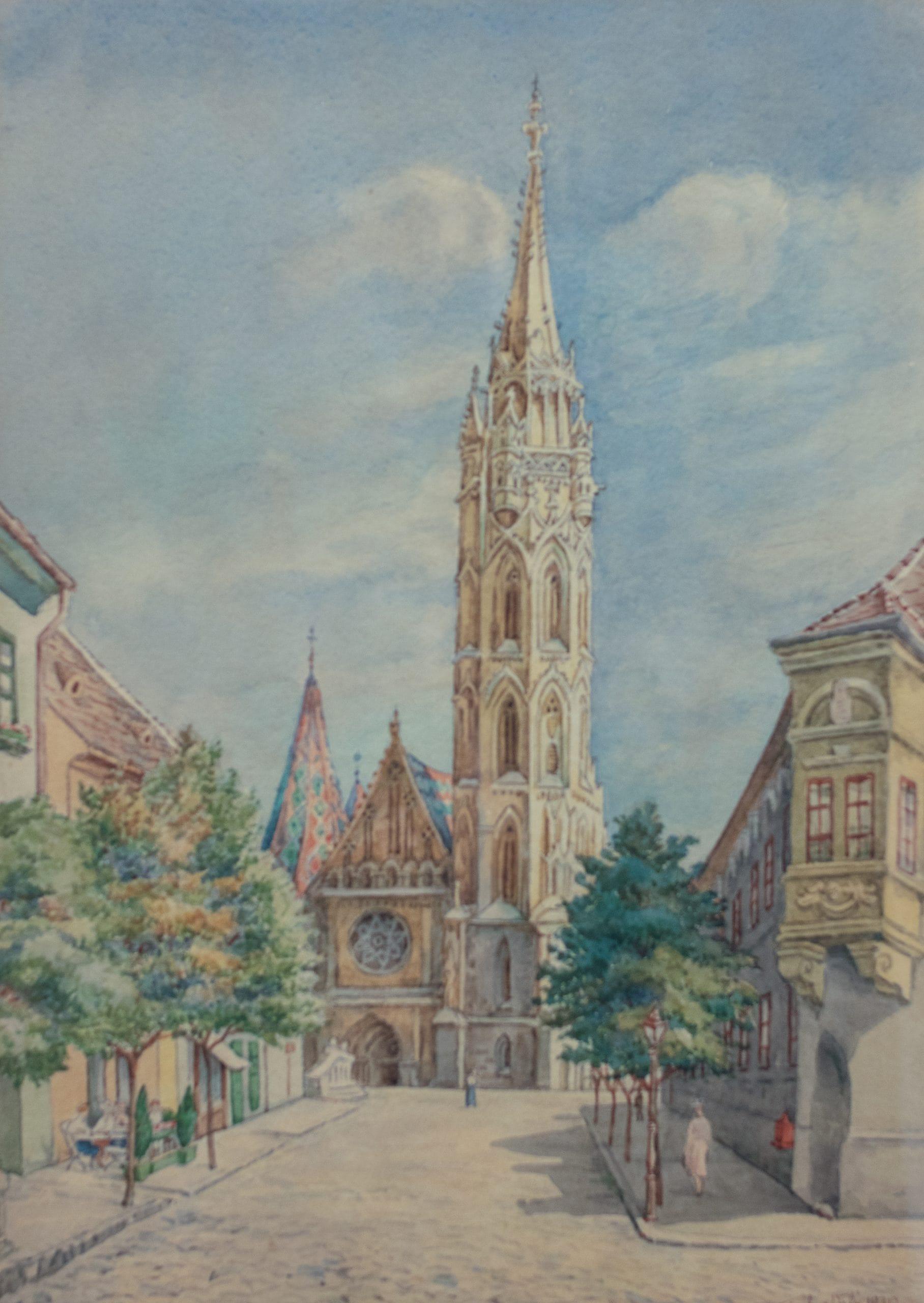Farkas Valér: Mátyás-templom, 1930