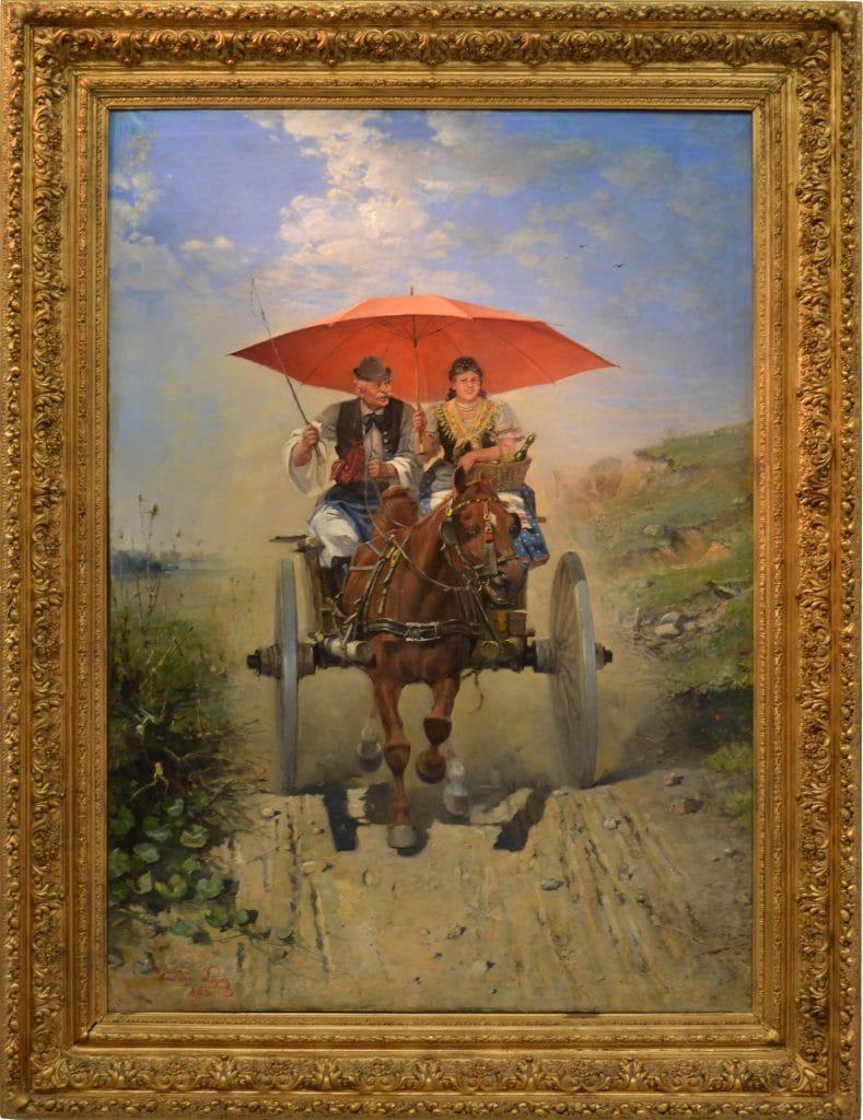 Kubányi Lajos: Lovaskocsi, 1893