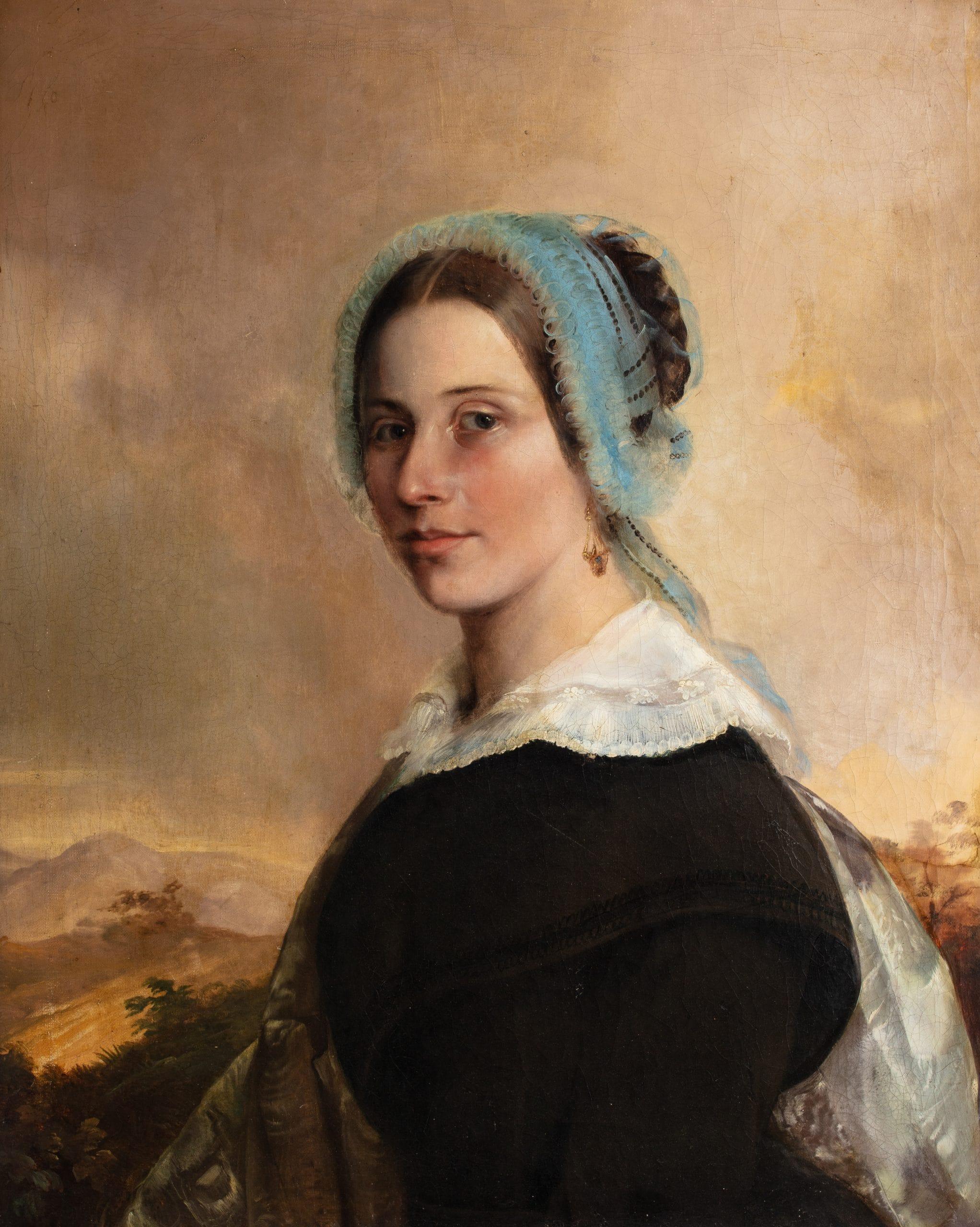Ismeretlen festő: Biedermeier női képmás