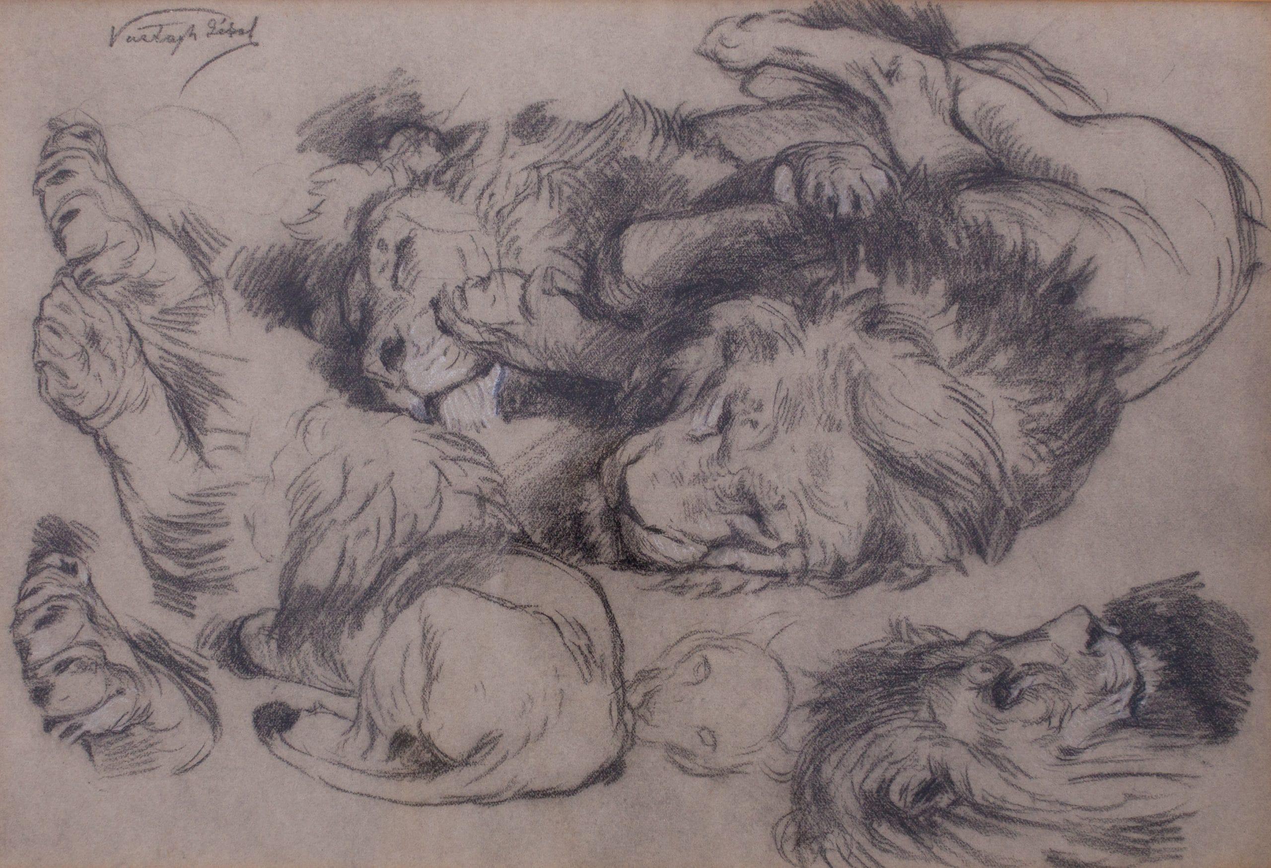 Vastagh Géza: Tanulmányrajz oroszlánokhoz
