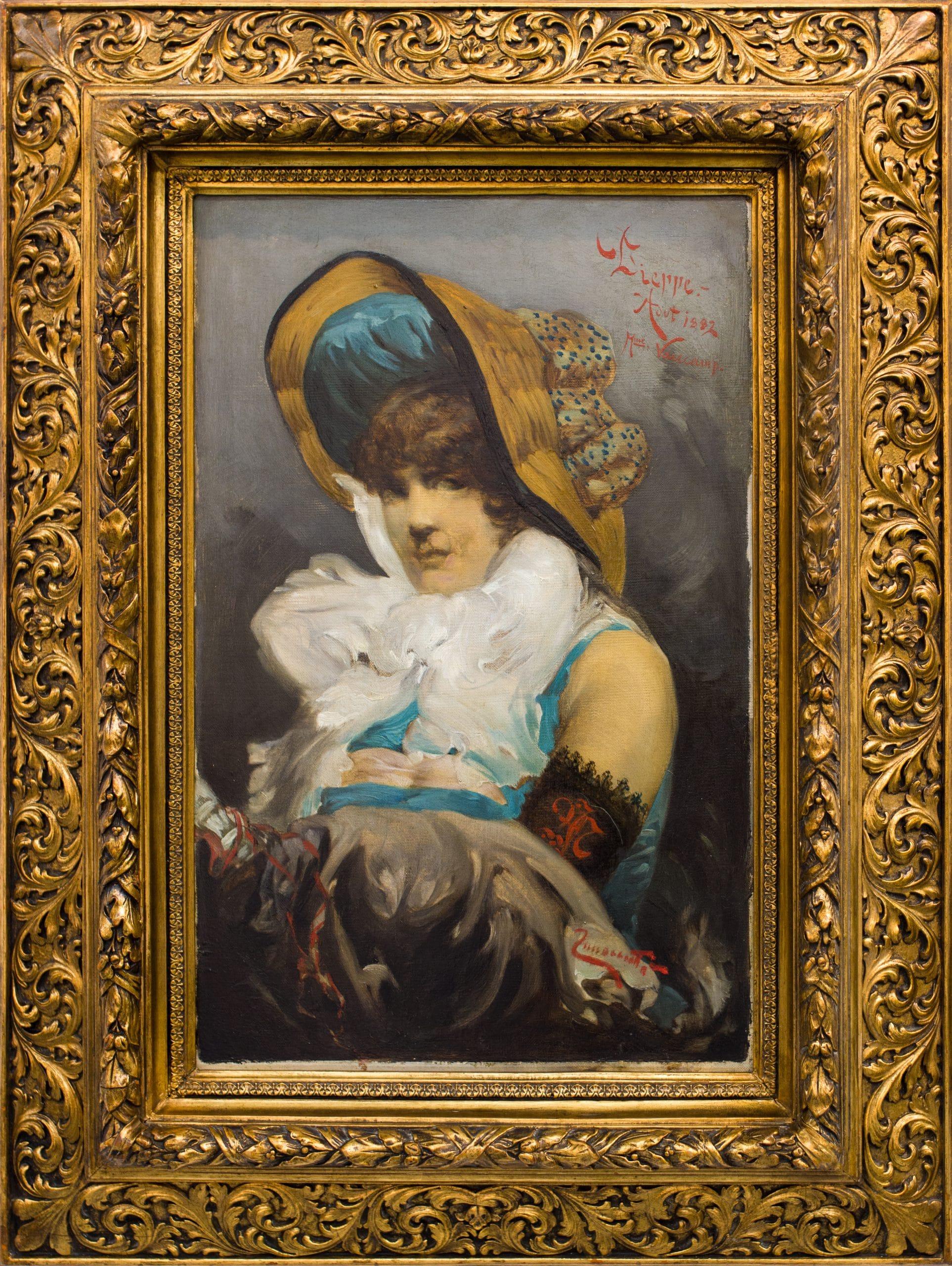Innocent Ferenc: Mademoiselle Vancamp portréja, 1882