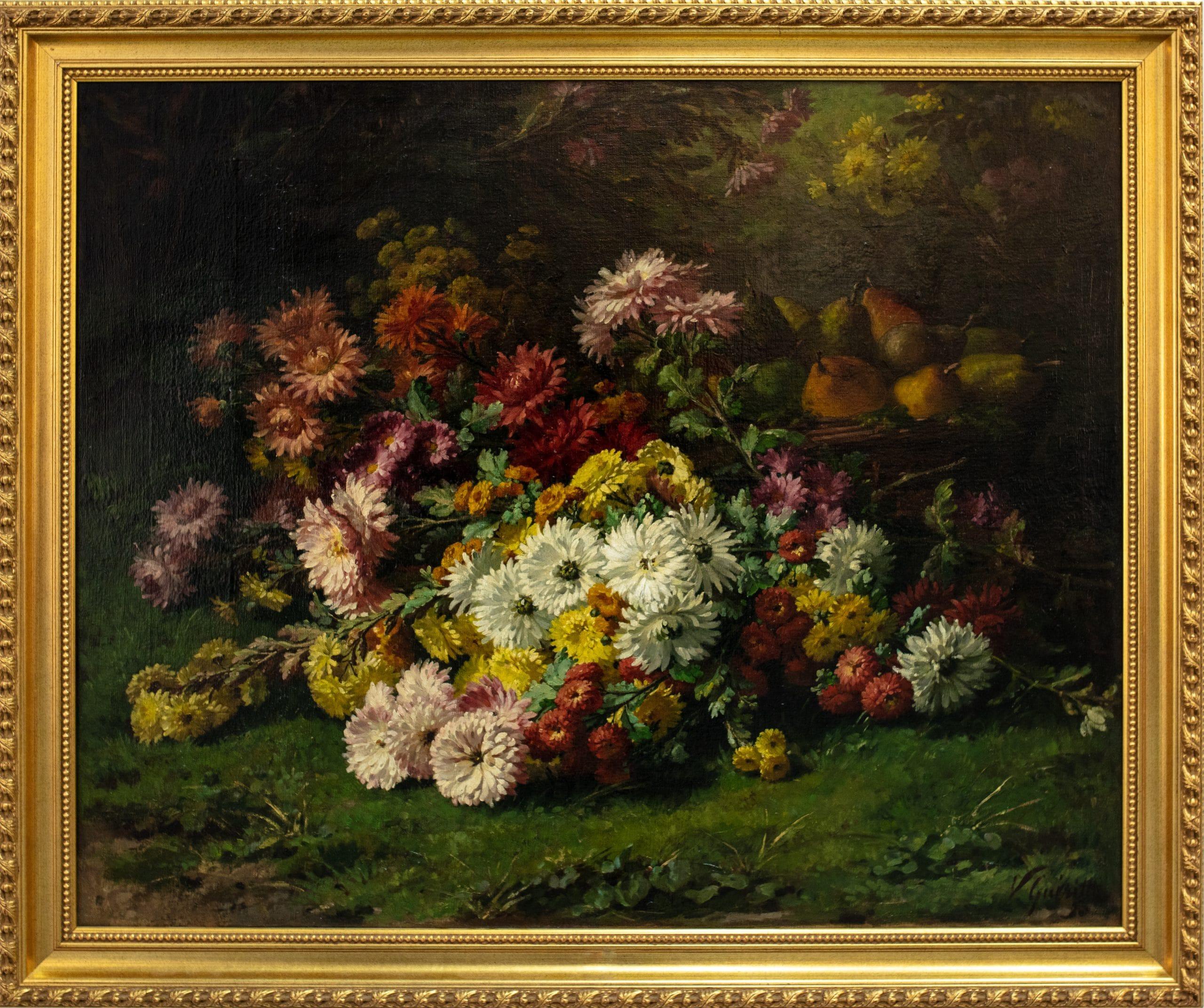 Victor Gueritte: Nagy virágcsendélet