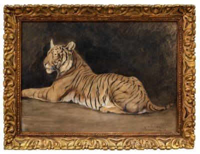 Ifj. Vastagh György: Pihenő tigris, 1924