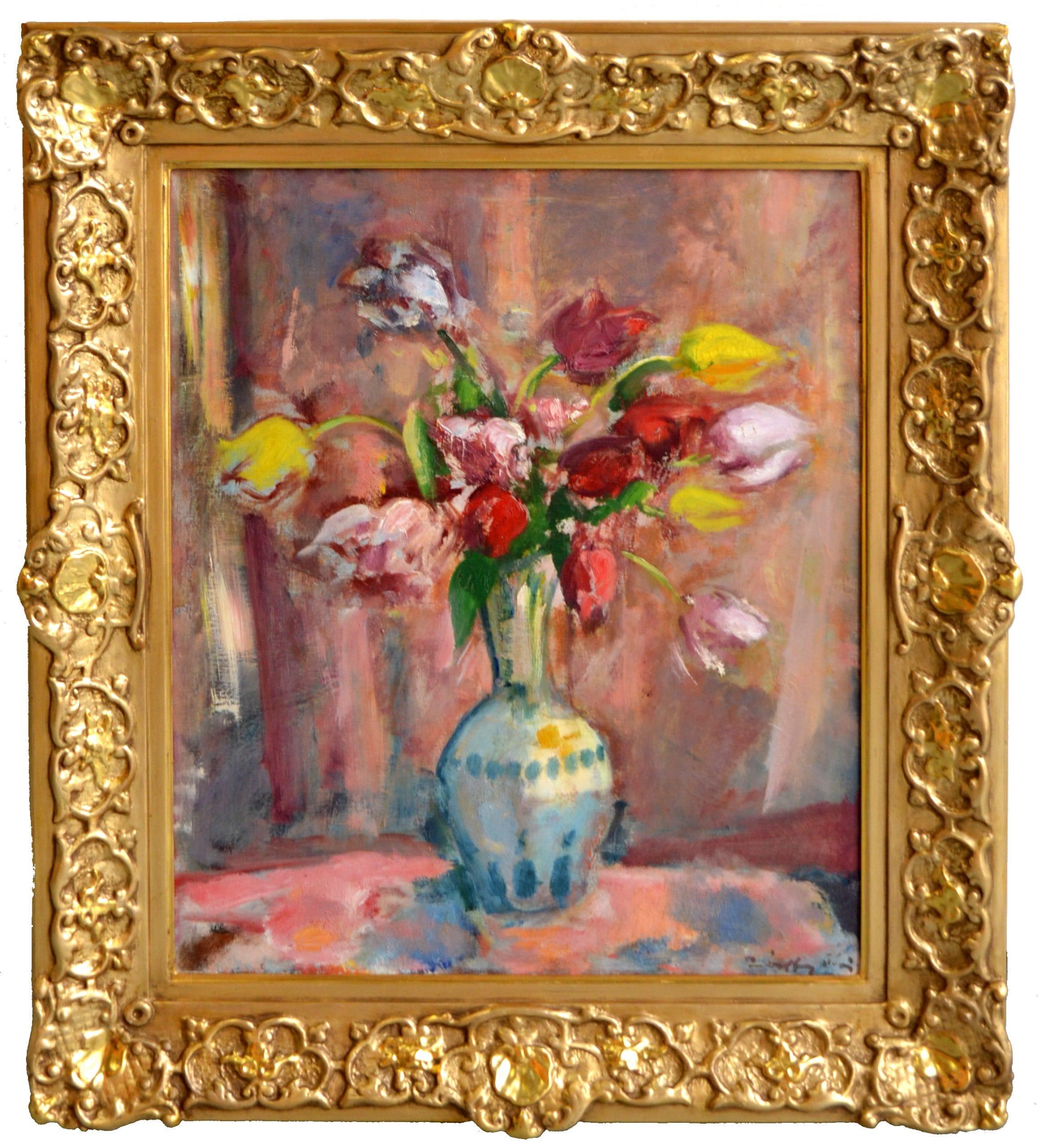 Márffy Ödön: Tulipános virágcsendélet