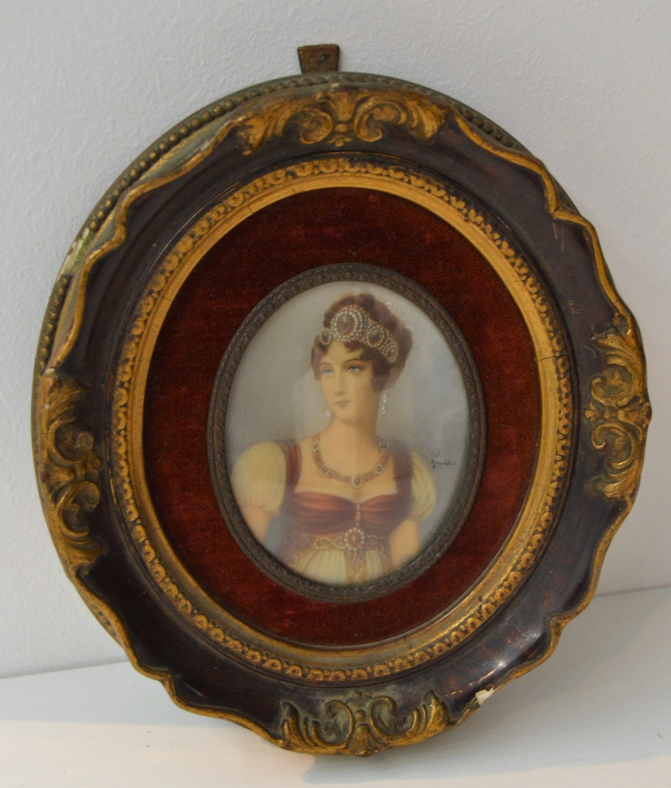 Gerold: Ovális női portré miniatúra