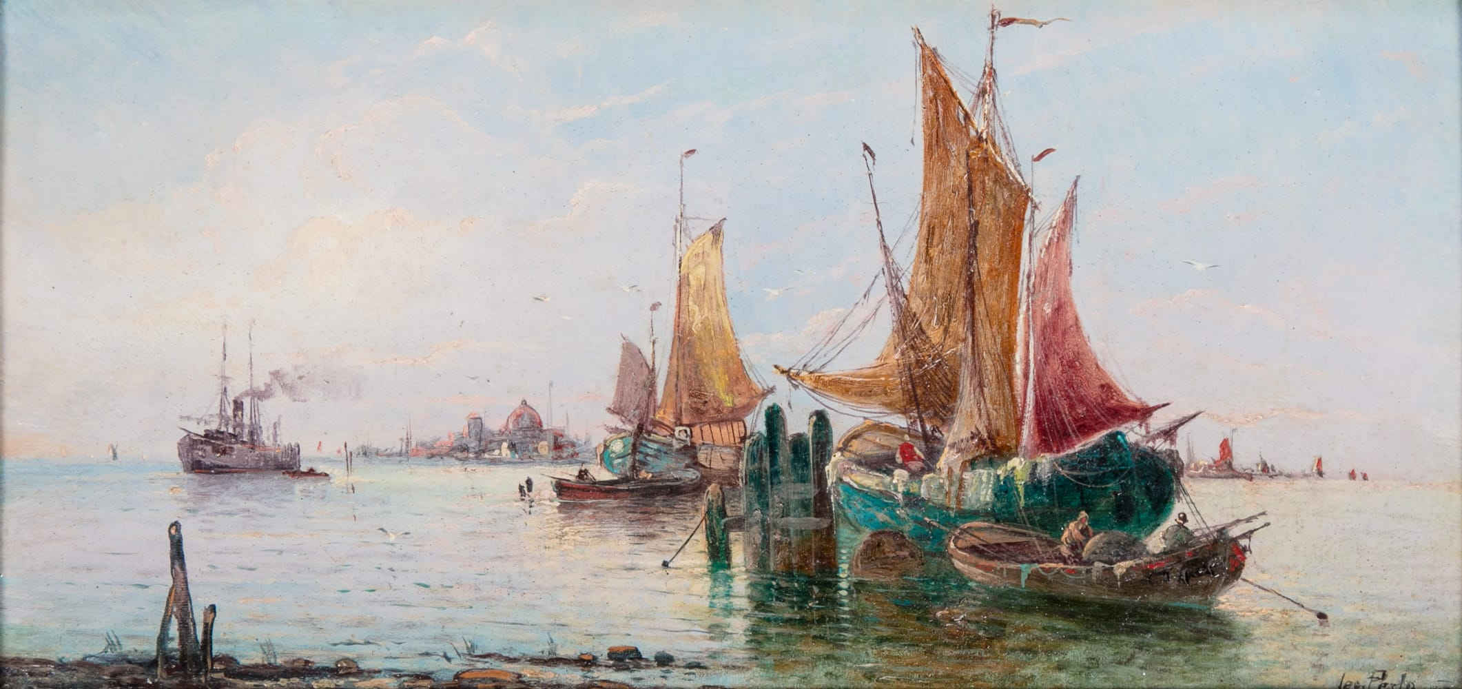 Karl Kaufmann: Vitorlások Velencében, 1900