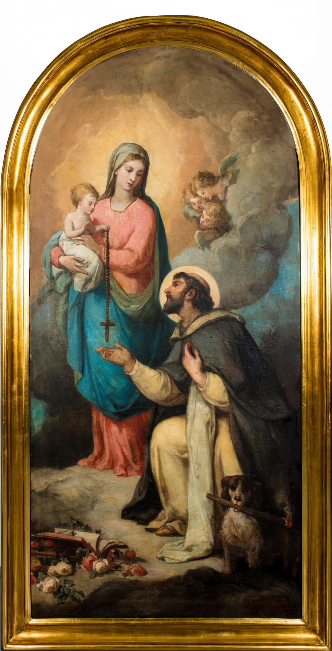 Jakobey Károly: Szent Domonkos Máriával és a Gyermekkel, 1882