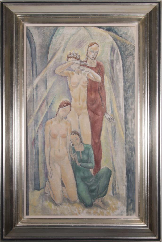 20. századi magyar festőművész: Négy nőalak