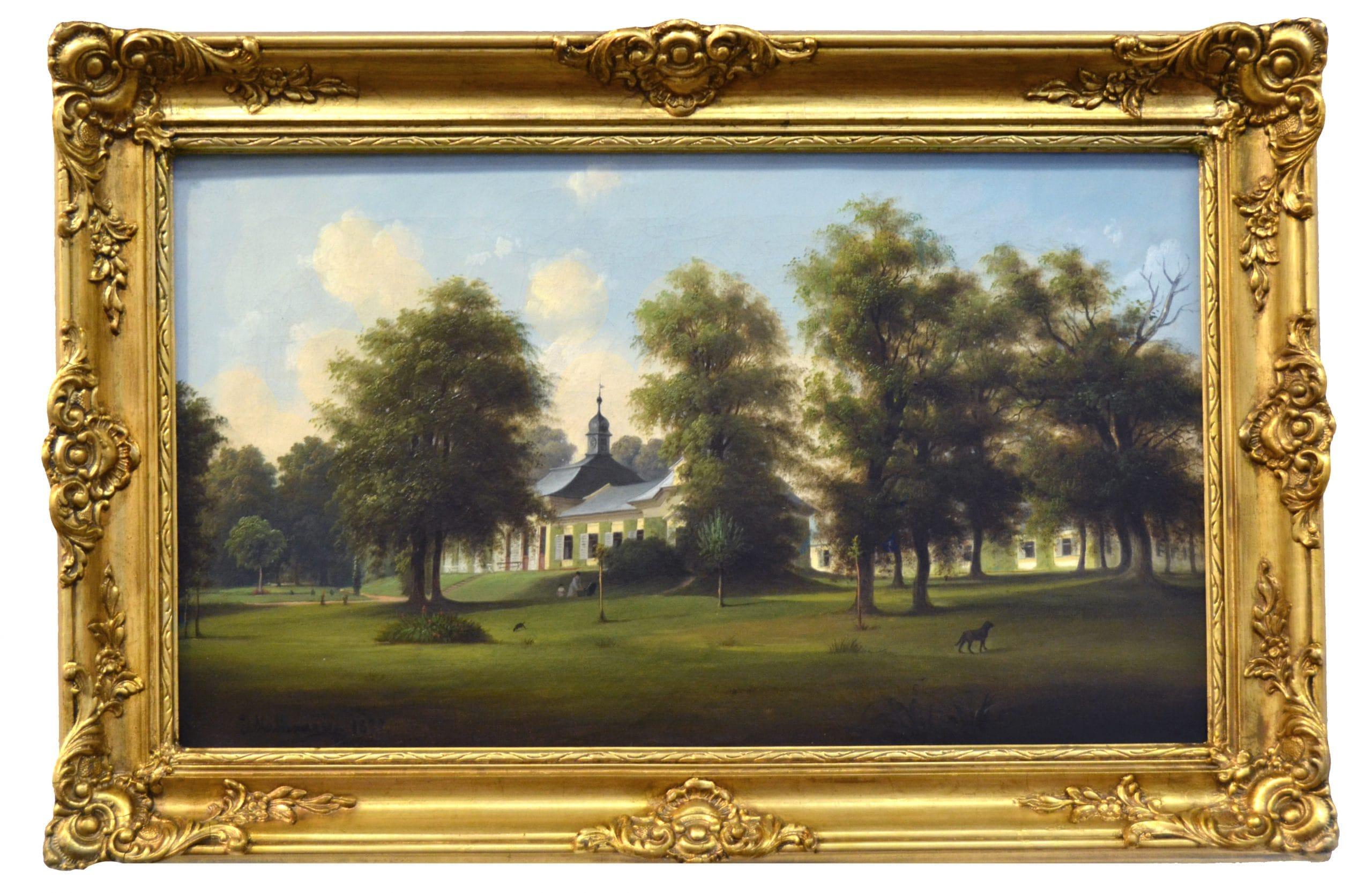 Josef Mathauser: Kastélypark, 1877